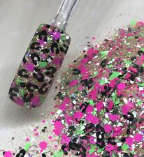 Glitter Mix Nail Art Acrylic Gel  CHEETAH