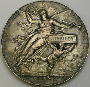 FRANCE International Universal Exhibition Paris 1878 Silver plated Copper Medal*