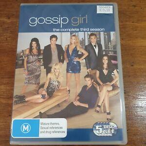 Gossip Girl the Complete Third Season 3 DVD R4 Like New! FREE POST