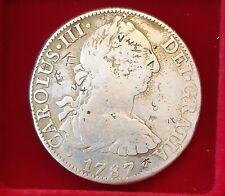Silbermünze 8 Reales Carolus III Dei Gratia 1787 Silber Mexiko / Spanien Silber
