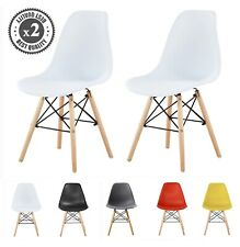 More details for 2x dining chairs modern design retro lounge plastic chairs office chairs, la