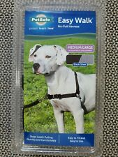 PetSafe Deluxe Easy Walk Harness Med Lg Black Ocean Pad No Leash Pull Reflective