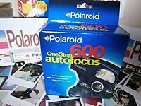 Polaroid  Camera +1+ film MEGA RARE AS N E W NIB 1 NEW FILM  Iconic 80s