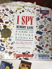 I Spy Memory Game Scholastic Briarpatch Kids Board Game Complete