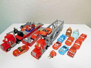 Disney Pixar Cars Lightning McQueen Race Team Diecast Lot Semi Truck Hauler etc
