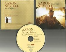 AARON NEVILLE Brothers It's All right PROMO DJ CD Single CURTIS MAYFIELD TRK