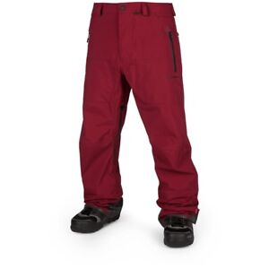 NWT MENS VOLCOM GUIDE GORE-TEX PANT $500 L Burnt Red snow 3 layer snowboard
