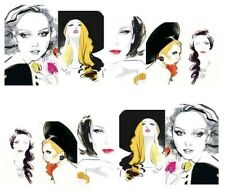 Nail Art Water Decals Transfer Stickers Glamour Vogue (A-188)
