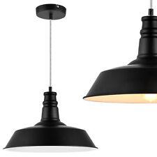 [lux.pro]® Plafonnier métal noir Ø36cm luminaire éclairage suspension