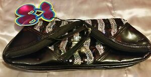 New* Womens Pacha bag 🍒  sequin black with silver ☆100% Genuine ☆Clubbing bag