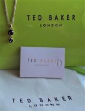 TED BAKER SIGNED ROSE GOLD PLATED TWO ROUND STONES NECKLACE 45cm NEW BAG QVC