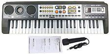 49 clés de musique numérique électronique clavier et microphone électrique led piano orgue
