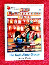"THE BABY SITTERS  CLUB  # 3 ""THE  TRUTH  ABOUT  STACEY"" BY ANN M. MARTIN"