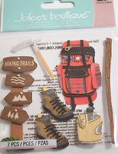 JOLEE'S BOUTIQUE HIKING TRIP Scrapbook Craft Sticker Dimensional Embellishment