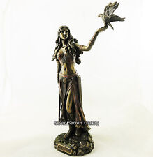 MORRIGAN Celtic Irish Queen Goddess of War with Crow Statue Figurine Figure NEW