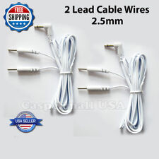 ELECTRODE LEAD WIRES / Cables for Digital Massager TENS 2.5 mm One Pair