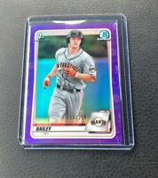 2020 Bowman Chrome Draft Patrick Bailey 1st Purple Refractor 123/250