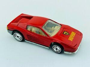 Hot Wheels LEO Blackwall FERRARI TESTAROSSA Red INDIA NM/M Minty Clean !
