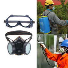 Safty Gas Mask Anti Dust Respirator Filter Paint Chemical Industrial Goggles Set