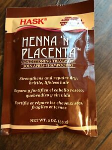 Hask Henna N Placenta Conditioning Treatment Repair Dry Hair Treatment  2oz USA
