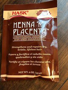 Hask Henna N Placenta Conditioning Treatment Repair Dry Hair Treatment  2oz USA