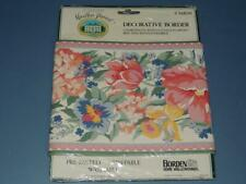 "MARTHA STEWART COTTAGE FLOWERS WALLPAPER BORDER 7"" x 5 YDS Borden"