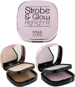 MUA Strobe & Glow Highlight Duo Compact Kit 17.5g SEALED - Choose Shade
