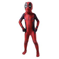 Kid Deadpool Cosplay Costume Spandex Lycra Zentai Halloween Party Bodysuit