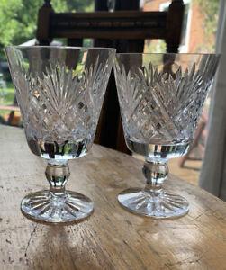 Two Webb Corbett Crystal Wine Glasses