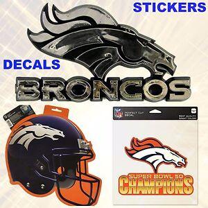 Denver Broncos 💙  NFL Football Sticker Decal Tattoos--U Choose 💙 Buy 2 & SAVE