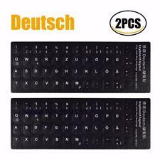 2x Deutsche Tastatur Aufkleber Alphabet Für Laptop und Desktop Tastaturen Schutz
