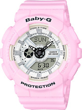 Casio BA110BE-4A Baby-G Ladies Watch White/Pink WR 10 ATM RRP$249