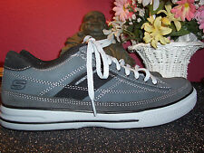 SKECHERS charcoal gray & black suede athletic shoe 9.5M new without box