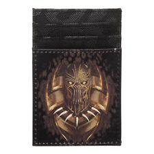 Black Panther Front Pocket Card Holder Wallet Killmonger Marvel Comics Bioworld