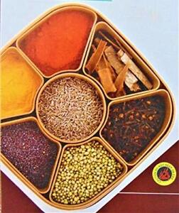 Indian Masala Dabba Spices Box Storage with 7 small Container & 1 Spoon-FreeShip