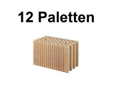 12 Pal. Planziegel POROTON-T (24 cm) 12/0,9 Ziegelstein Planstein Mauerwerk
