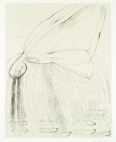 """""""Der Regen"""", 1999. Lithographie von Irmel DROESE (*1943 D), handsigniert"""