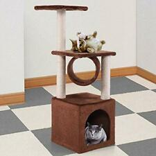 """New listing 36"""" Deluxe Cat Tree Kitten Condo Furniture Toy Pet Play House Coffee Brown"""