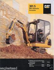 Equipment Brochure - Caterpillar - 301.5 - Mini Hydraulic Excavator 1998 (E1041)