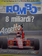 ROMBO 36 1989 Gp Italia Monza Prost Nigel Mansell Jean Alesi