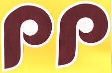 """2 PHILADELPHIA PHILLIES TB IRON-ON PATCHES - 4.5"""" x 6"""""""
