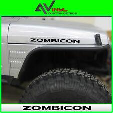 Jeep Hood Decals ZOMBICON zombie decals Vehicle Fit: Wrangler TJ JK XJ CJ YJ
