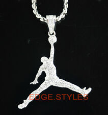 Basketball jumping man 34 pendant chain Necklace jump man pendant