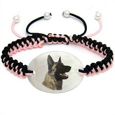 Belgian Malinois Natural Mother Of Pearl Adjustable Knot Bracelet Chain BS142