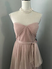 Adrianna Papell Latte Blush Pink Sweetheart Tulle Prom Gown Dress Sz 14 X-Large
