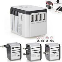 USB Ports Universal Travel AC Power Charger Adapter Plug Converter AU UK US EU