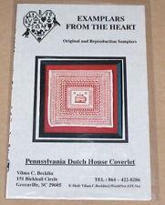 "Examplars from the Heart ""Pennsylvania Dutch Tulip Coverlet"" Cross Stitch Chart"