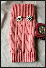 Pet London Pink Cable Knit  Dog Jumper -Dog Clothes size Small (S) NEW With Tags