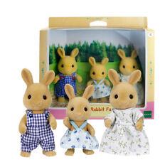 Sylvanian Families Dollhouse Ocher Rabbit Family 3pcs Set Toy Doll Figures 5129