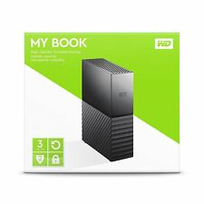 WD Western Digital 3TB MY BOOK External Hard Drive 3.0 USB WDBBGB0030HBK 3 TB